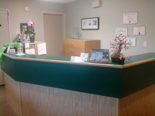 A view of the inside of our dentist office